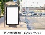 blank white mock up of vertical ... | Shutterstock . vector #1149379787