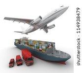 3d rendering of a flying plane  ... | Shutterstock . vector #114938479