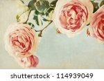 Vintage Background. Flowers...