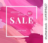 vector sale banner with text on ... | Shutterstock .eps vector #1149395627