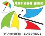 umbrella in cartoon style ... | Shutterstock .eps vector #1149398021