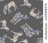 abstract colors horse zebra... | Shutterstock .eps vector #1149398474