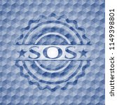 sos blue emblem with geometric... | Shutterstock .eps vector #1149398801
