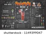 vintage chalk drawing halloween ... | Shutterstock .eps vector #1149399047