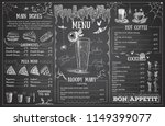vintage chalk drawing halloween ... | Shutterstock .eps vector #1149399077