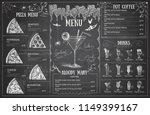 vintage chalk drawing halloween ... | Shutterstock .eps vector #1149399167