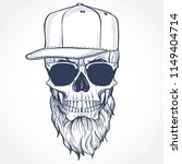 angry skull with beard | Shutterstock .eps vector #1149404714