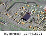 electronic circuit board close... | Shutterstock . vector #1149416321
