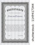 grey diploma template.... | Shutterstock .eps vector #1149417344