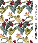 tropical vintage pattern with... | Shutterstock .eps vector #1149419264