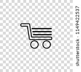 shopping cart vector icon | Shutterstock .eps vector #1149422537