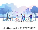 city park. vector illustration. | Shutterstock .eps vector #1149425087