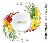 flat lay fresh vegetables on...   Shutterstock .eps vector #1149429551