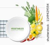 flat lay fresh vegetables on...   Shutterstock .eps vector #1149429554