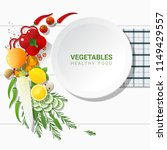 flat lay fresh vegetables on... | Shutterstock .eps vector #1149429557