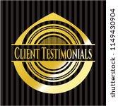 client testimonials gold emblem   Shutterstock .eps vector #1149430904