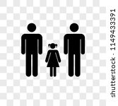 men couple with a daughter... | Shutterstock .eps vector #1149433391