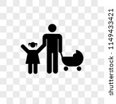 father with his daughter and... | Shutterstock .eps vector #1149433421
