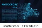 motocross of particles....   Shutterstock .eps vector #1149433514