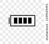 full battery vector icon on... | Shutterstock .eps vector #1149435491