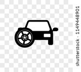 car with spare tire vector icon ... | Shutterstock .eps vector #1149448901