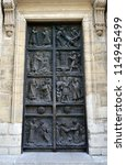 Ornate Door To The Medieval...