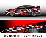 car wrap design vector  truck... | Shutterstock .eps vector #1149459101