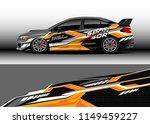 car wrap design vector  truck... | Shutterstock .eps vector #1149459227