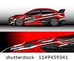 car wrap design vector  truck... | Shutterstock .eps vector #1149459341