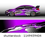car wrap design vector  truck... | Shutterstock .eps vector #1149459404