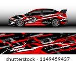 car wrap design vector  truck... | Shutterstock .eps vector #1149459437