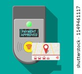 transport card near terminal.... | Shutterstock .eps vector #1149461117