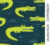 Crocodiles  Hand Drawn Backdrop....