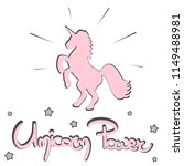 cute unicorn power hand drawn...   Shutterstock .eps vector #1149488981
