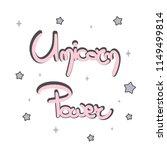 cute unicorn power hand drawn...   Shutterstock .eps vector #1149499814
