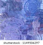 contemporary art. hand made art.... | Shutterstock . vector #1149506297