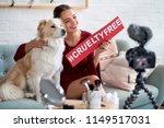 beauty vlogger influencer... | Shutterstock . vector #1149517031
