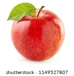 red apple with leaf | Shutterstock . vector #1149527807