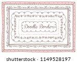 vector set of cute doodle... | Shutterstock .eps vector #1149528197