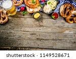 oktoberfest food menu  bavarian ... | Shutterstock . vector #1149528671