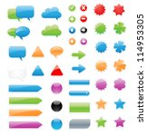 this is a set of customizable...   Shutterstock .eps vector #114953305