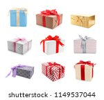 collection of various gift... | Shutterstock . vector #1149537044