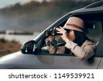 female detective spying with... | Shutterstock . vector #1149539921