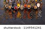 pices on black graphite board   Shutterstock . vector #1149541241