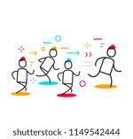 vector business illustration of ... | Shutterstock .eps vector #1149542444