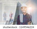 double exposure of  portrait of ...   Shutterstock . vector #1149546224