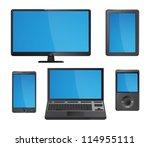 set of detailed modern... | Shutterstock .eps vector #114955111