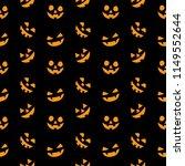 pumpkin vector seamless pattern ... | Shutterstock .eps vector #1149552644