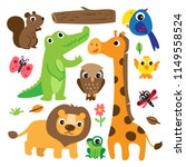 animals character collection... | Shutterstock .eps vector #1149558524