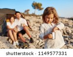 pretty little girl wearing in...   Shutterstock . vector #1149577331